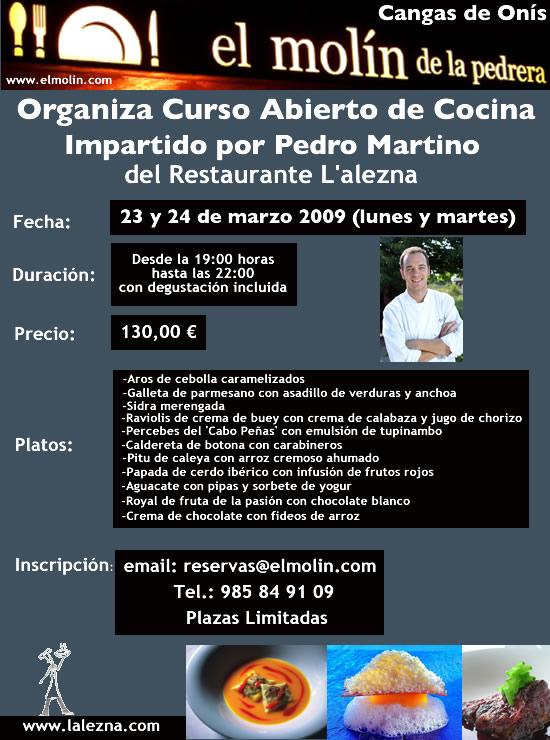 Restaurante el mol n de la pedrera en cangas de on s - Cursos cocina asturias ...